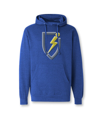 Tri-Tone Youth Pullover Hoodie - Royal Heather