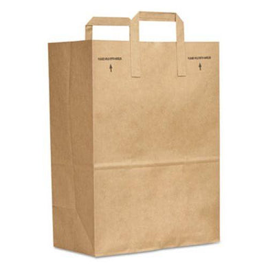 1/6 70# BROWN BAG WITH HANDLE 300 CT