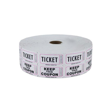 WHITE RAFFLE TICKETS  2000 CT