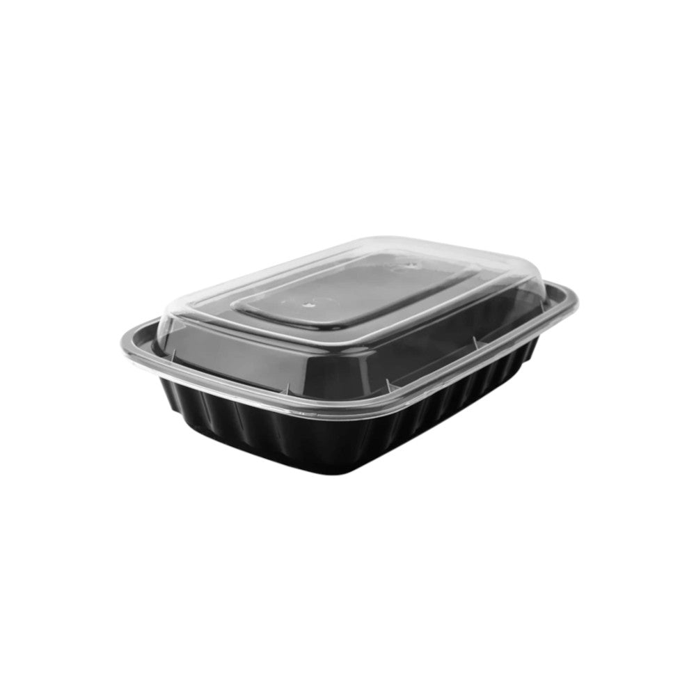 16 oz. Rectangle Microwaveable Container With Lid 150/Case