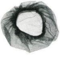 22 NYLON HAIRNETS  BLACK  144 CT