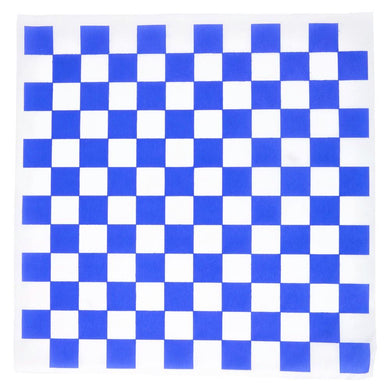 12 X 12 BLUE CHECKERED WAX PAPER CT.