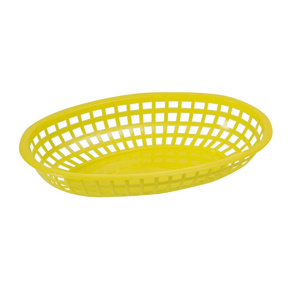 YELLOW FAST FOOD BASKETS OVAL 12 CT