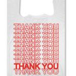 T SHIRT BAG MEDIUM THANK YOU 10X5X18