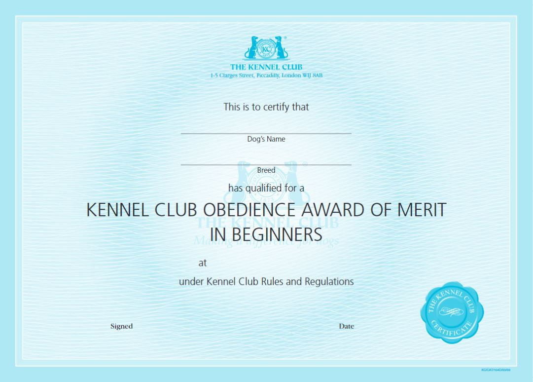 certificates the kennel club