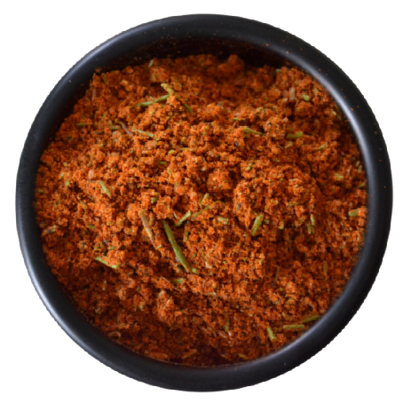 roast lamb rub displayed in a bowl, made from 66% Australian grown ingredients