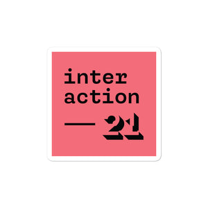 Interaction 21 Sticker (Coral)