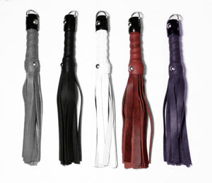 "12"" Classic Leather Flogger BDSM > Floggers & Whips Touch of Fur"