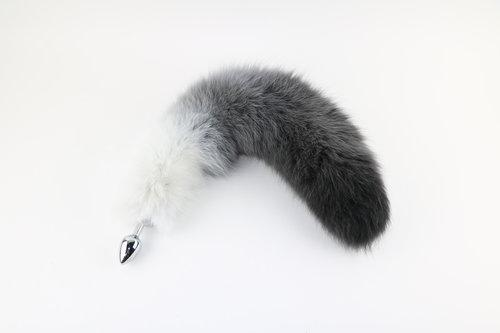 "14""-17"" Dyed Fox Tail Plug Attatchment"