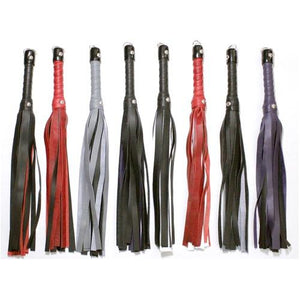 "18"" Deluxe Leather Flogger BDSM > Floggers & Whips Touch of Fur"