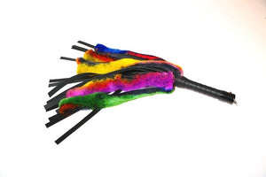 "24"" Rabbit Fur and Leather Floggers BDSM > Floggers & Whips Touch of Fur Multi-Color"
