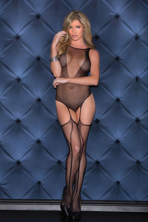 Backless Mesh Bodystocking Lingerie & Clothing > Bodystocking S - XL Glitter