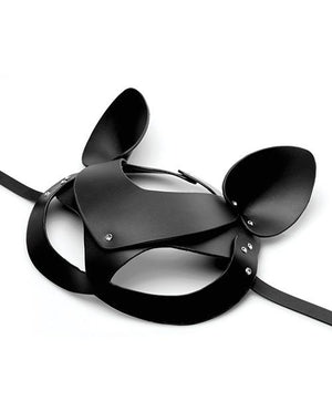 Bad Kitten Leather Cat Mask BDSM > Blindfolds, Masks, & Hoods XR Brands