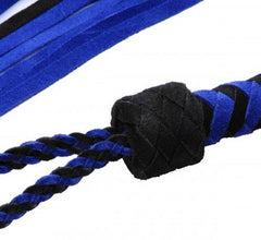 Black and Blue Suede Flogger BDSM > Floggers & Whips Strict Leather