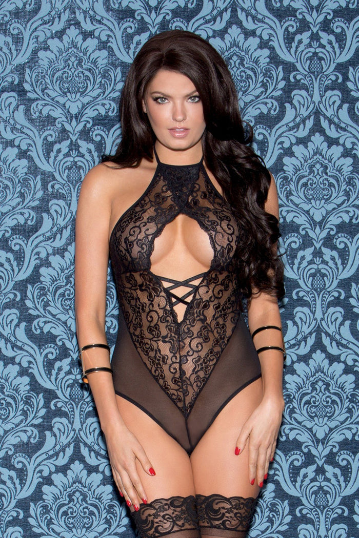 Black Halter Teddy