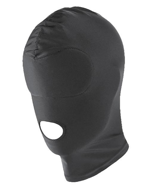 Black Spandex Hood with Open Mouth