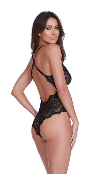 Black Stretch Lace Teddy Lingerie & Clothing > Lingerie Small-XL Dreamgirl International Lingerie