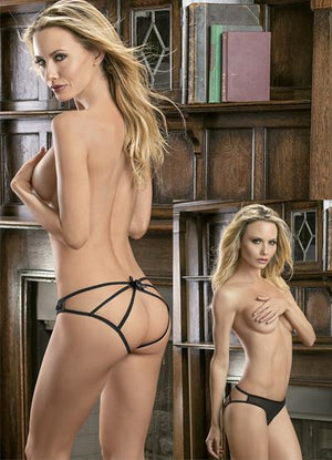Cage Back Mesh Panty Lingerie & Clothing > Panties Escante' Black