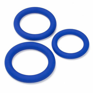 Cloud 9 Pro Sensual Silicone Cock Ring 3 Pack Erection Rings Cloud 9 Blue