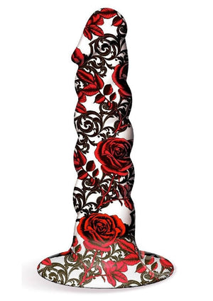 Collage Iron Rose Twisted Silicone Dildo Dildos Icon Brands
