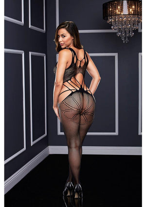 Criss Cross Crotchless Bodystocking Lingerie & Clothing > Lingerie Small-XL Baci Lingerie