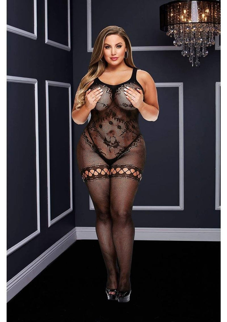 Crotchless Bodystocking, Queen Lingerie & Clothing > Bodystocking 1X-4X Baci Lingerie