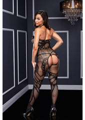 Crotchless Jacquard Bodystocking Lingerie & Clothing > Lingerie Small-XL Baci Lingerie