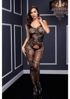 Crotchless Net Jacquard Bodystocking Lingerie & Clothing > Bodystocking Baci Lingerie
