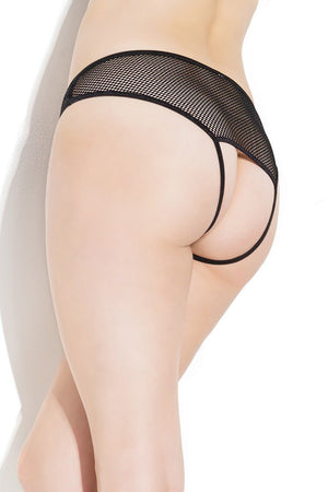 Crotchless Open Back Fishnet Panty Lingerie & Clothing > Panties Coquette