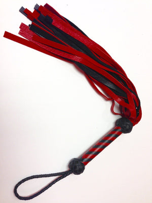 Deer Tanned Cowhide Flogger BDSM > Floggers & Whips Rapture Leather Red Exterior/Black Interior