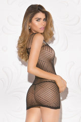 Diagonal Pattern Chemise Lingerie & Clothing > Lingerie Small-XL Glitter