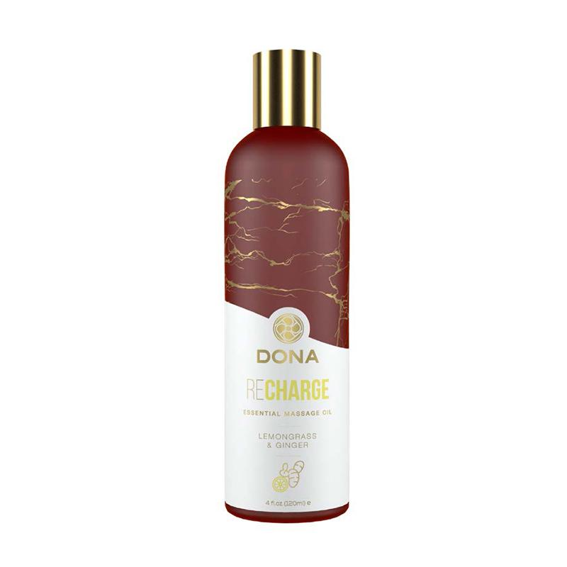 Dona Essential Massage Oil Lubricants Dona by JO Lemongrass and Ginger