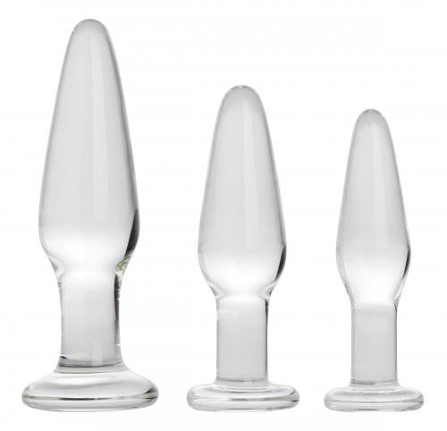 Dosha 3 Piece Glass Anal Plug Kit Anal Toys XR Brands