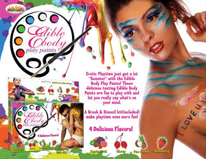 Edible Body Paints 4 Pack Bath, Body & Massage Hott Products