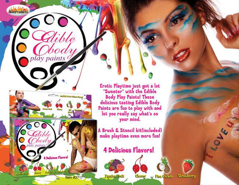 Edible Body Paints 4 Pack