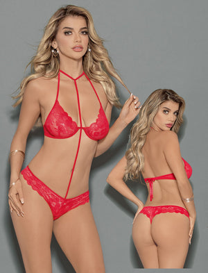 Electric Coral Bra and Panty Set Lingerie & Clothing > Lingerie Escante'