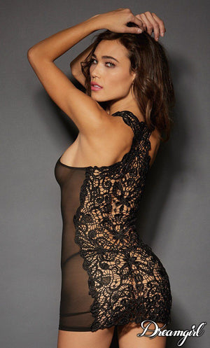 Embroidered Venice Lace Chemice Lingerie & Clothing > Lingerie Small-XL Dreamgirl International Lingerie