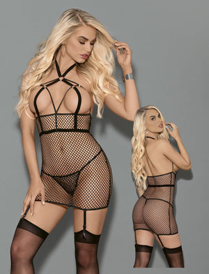 Fetish Chemise with Garters and Hose Lingerie & Clothing > Lingerie Escante'