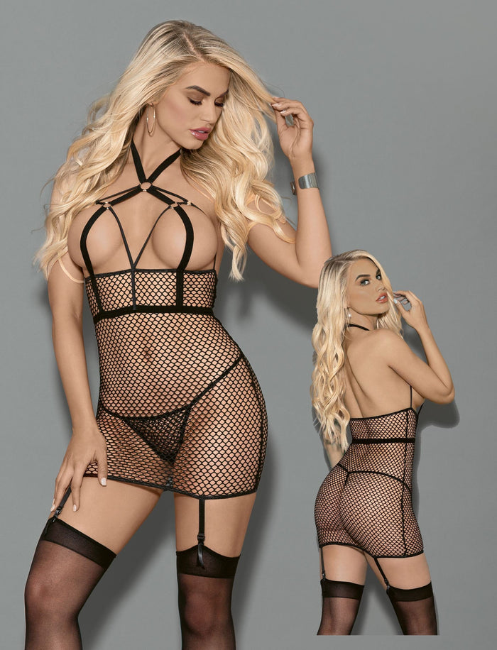Fetish Chemise with Garters and Hose