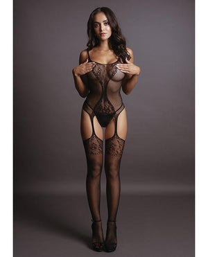Fishnet and Lace Bodystocking Lingerie & Clothing > Bodystocking Le Desir by Shots