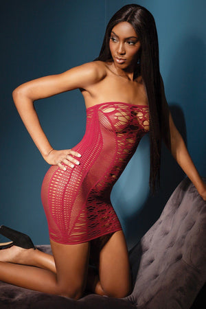 Fishnet Tube Dress Lingerie & Clothing > Lingerie Small-XL Coquette