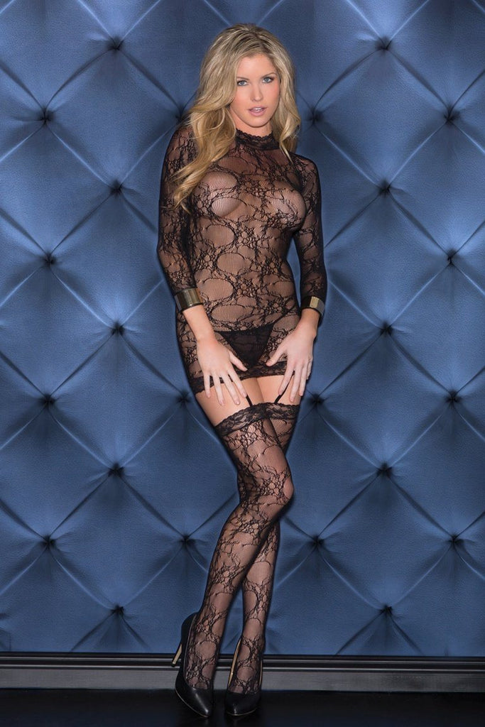 Full Sleeve Lace Bodystocking Lingerie & Clothing > Bodystocking S - XL Glitter