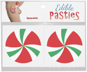 Hard Candy Swirl Edible Pasties in Spearmint Lingerie & Clothing > Accessories Kheper Games