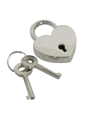 Heart Lock, Chrome Finish