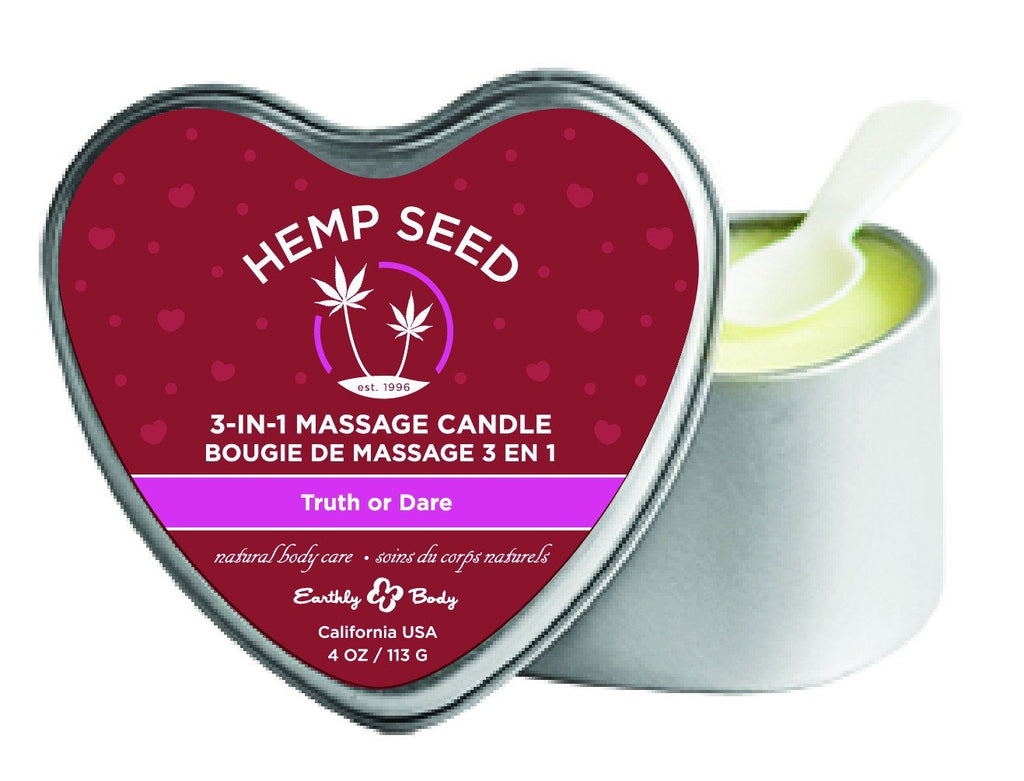 Heart Massage Hemp Candle Truth or Dare Bath, Body & Massage Earthly Body