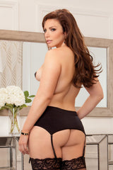 High Waisted Seamless Garter, Black Lingerie & Clothing > Accessories iCollection Lingerie