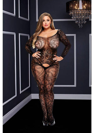 Ivy Lace Long Sleeve Bodystocking Lingerie & Clothing > Bodystocking Baci Lingerie