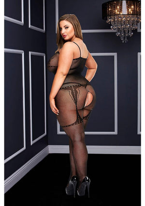 Jacquard Crotchless Tank Top Bodystocking Lingerie & Clothing > Bodystocking Baci Lingerie