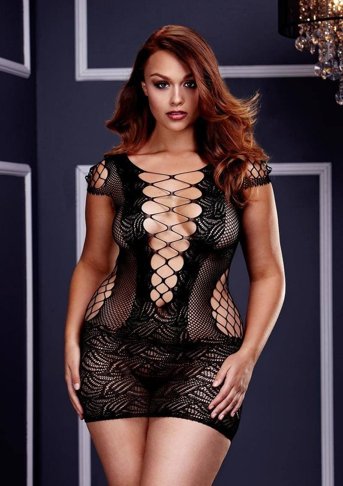 Lace Corset Front Mini Dress