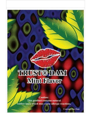Mint Flavored Latex Dental Dam Condoms & Safe Sex Line One Laboratories